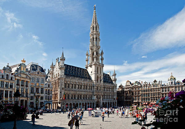 Municipality Photograph - The Grand Place by Jim Chamberlain