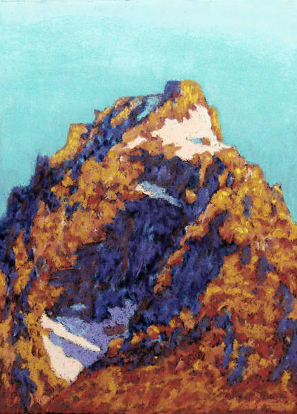 Alpen Glow Wall Art - Painting - The Grand Teton by Abbie Groves