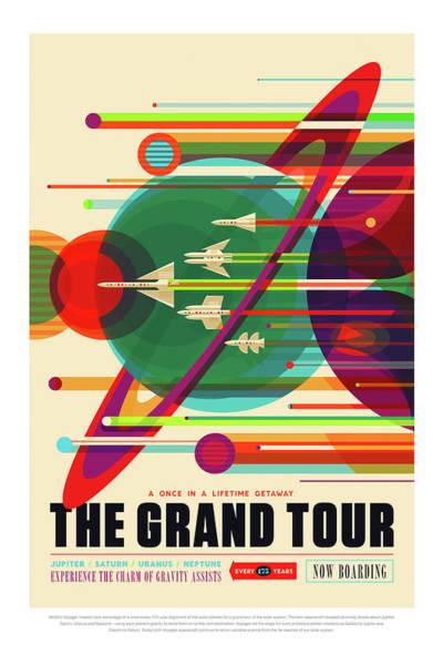 Photograph - The Grand Tour - Nasa Vintage Poster by Mark Kiver