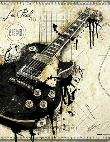 Electric Guitar Digital Art - The Granddaddy by Gary Bodnar