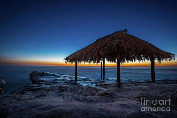 Photograph - The Grass Shack At Windansea At Sunset by David Levin