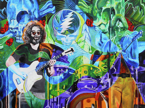 Deadhead Wall Art - Painting - The Grateful Dead In Englishtown 40th Anniversary by Kevin J Cooper Artwork
