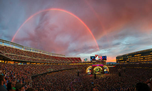 Santa Photograph - The Grateful Dead Rainbow Of Santa Clara, California by Beau Rogers