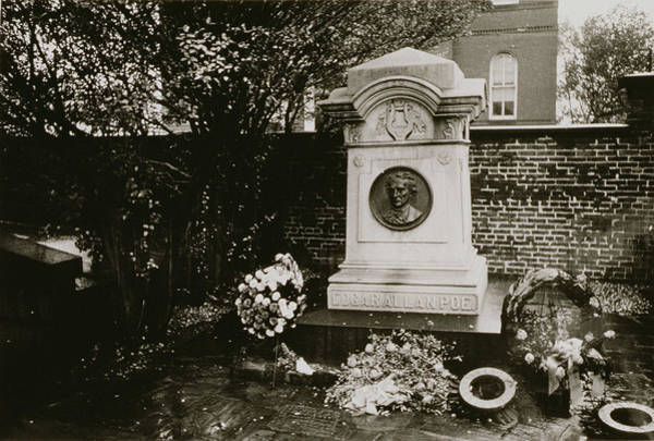 Gravestone Photograph - The Grave Of Edgar Allan Poe by Nat Herz