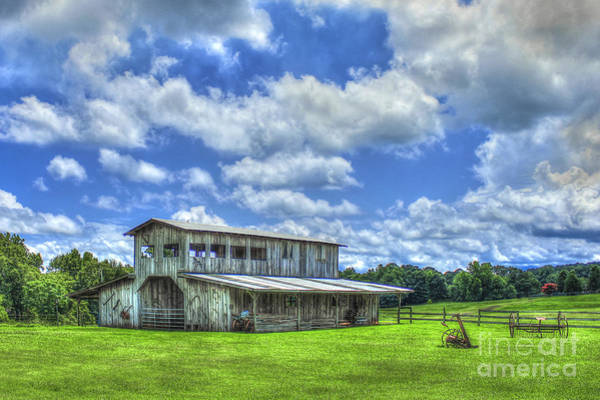 Photograph - The Gray Barn 2 Prospect Community Morgan County Ga by Reid Callaway