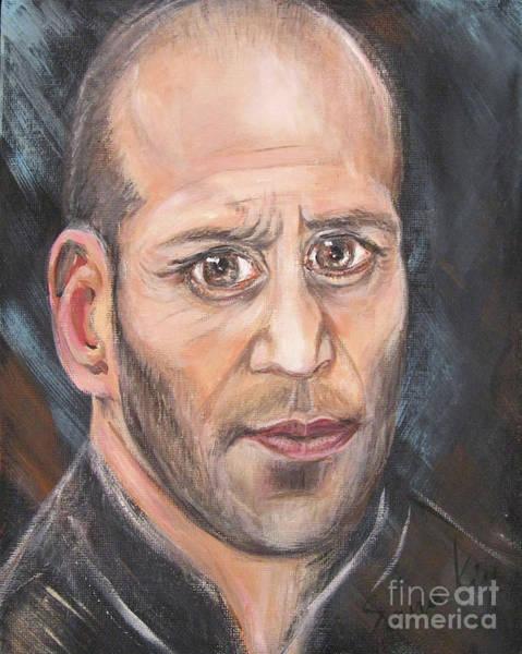 Painting - The Great Actor. Portrait Of Jason Statham by Oksana Semenchenko