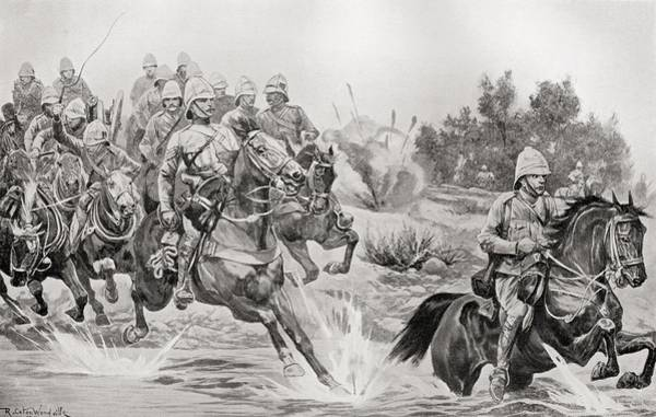 Royal Artillery Wall Art - Drawing - The Great Advance. Royal Horse by Vintage Design Pics