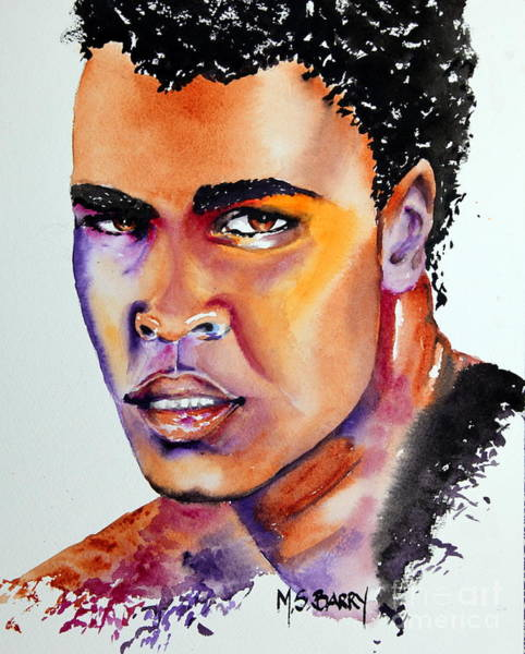 Wall Art - Painting - The Great Ali by Maria Barry