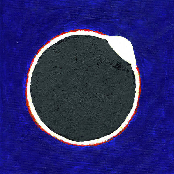Painting - The Great American Solar Eclipse Diamond Edition by Deborah Boyd