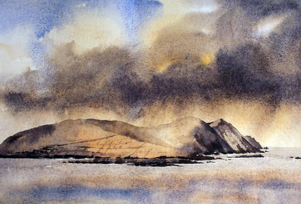 Painting - The Great Blasket Island by Val Byrne