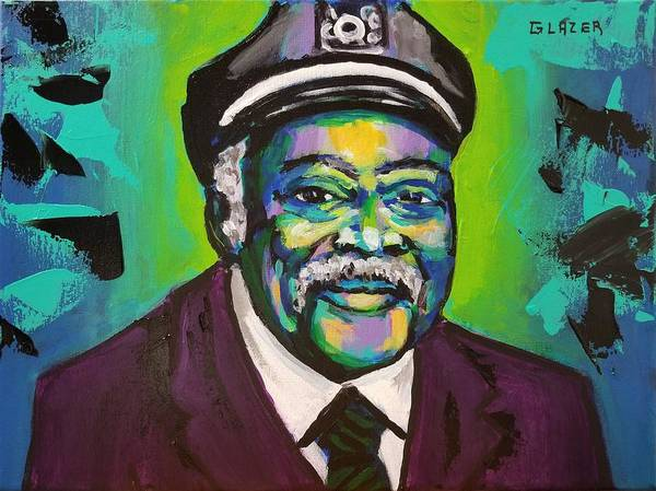 Wall Art - Painting - The Great Count Basie by Stuart Glazer