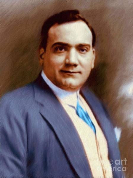 Opera Singer Painting - The Great Enrico Caruso by Mary Bassett