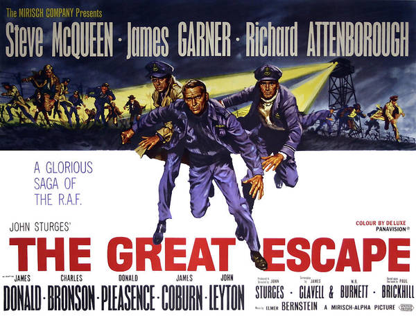 Wall Art - Photograph - The Great Escape Movie Vintage Lobby Poster  1963 by Daniel Hagerman