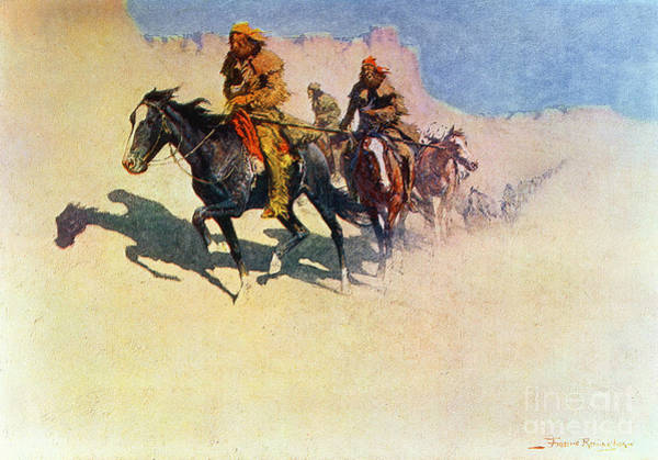 Trader Painting - The Great Explorers by Frederic Remington