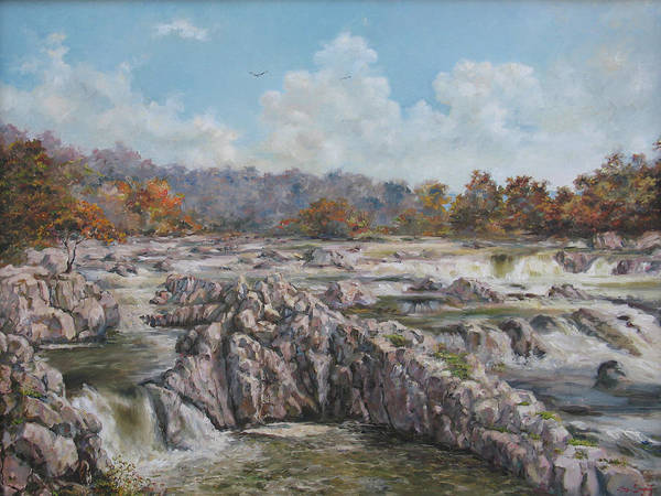 Painting - The Great Falls by Tigran Ghulyan