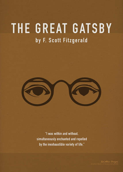 Wall Art - Mixed Media - The Great Gatsby Greatest Books Ever Series 010 by Design Turnpike
