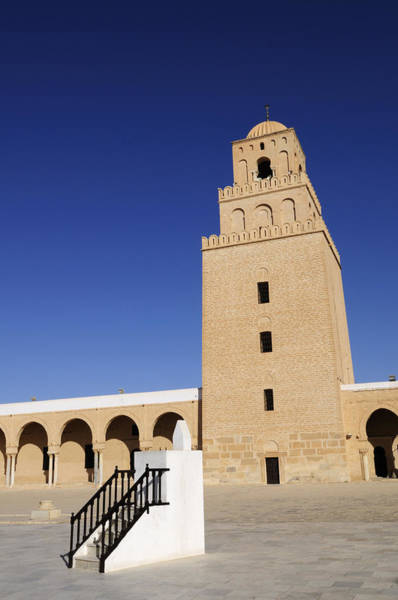 Wall Art - Photograph - The Great Mosque At Kairouan In Tunisia by Liz Pinchen
