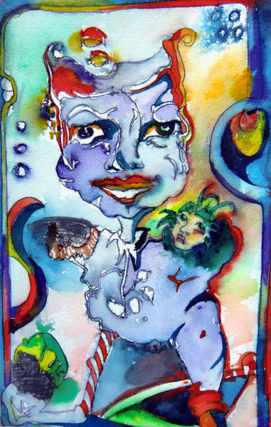 Psycho Painting - The Great Pretender by Mindy Newman