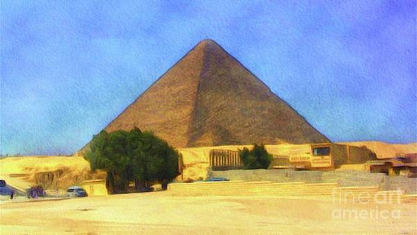 Wall Art - Painting - The Great Pyramid by Sarah Kirk
