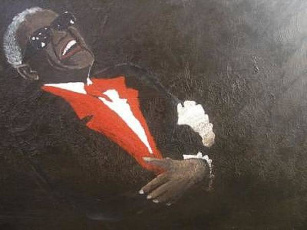 Wall Art - Painting - The Great Ray Charles by Dunbar's Modern Art