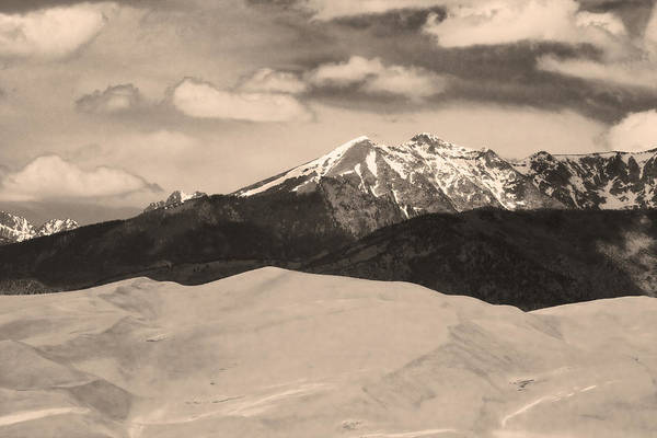 Photograph - The Great Sand Dunes And Sangre De Cristo Mountains - Sepia by James BO Insogna