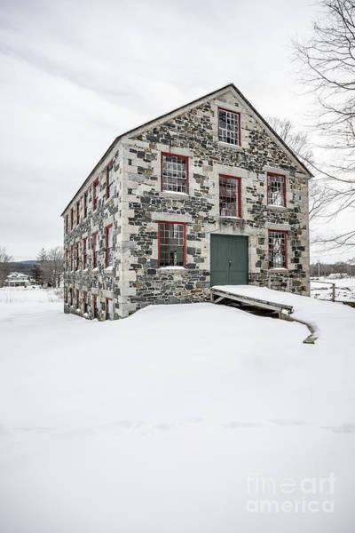New England Barn Photograph - The Great Stone Barn by Edward Fielding