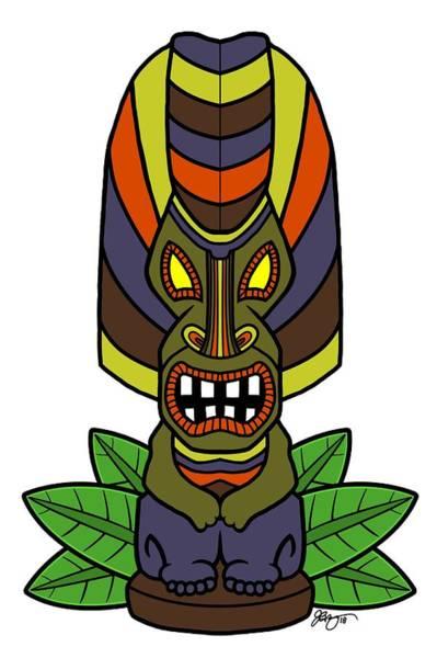 Cookout Digital Art - The Great Tiki by James Bogner
