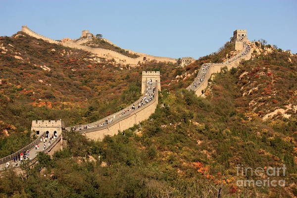 Photograph - The Great Wall On Beautiful Autumn Day by Carol Groenen
