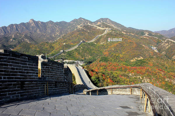 Photograph - The Great Wall With Mountains by Carol Groenen