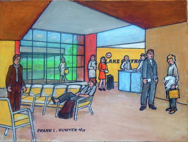 Painting - The Greater Portsmouth Ohio Regional Airport Interior by Frank Hunter