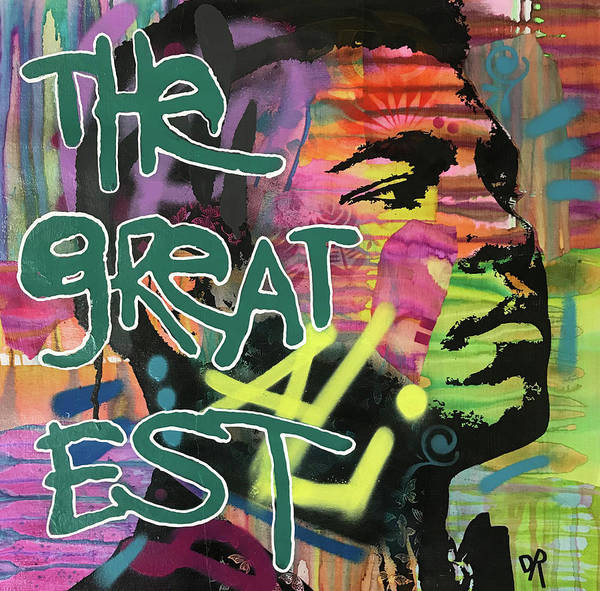 Boxing Mixed Media - The Greatest by Dean Russo Art