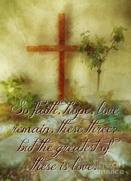 Photograph - The Greatest Is Love by Jenny Revitz Soper