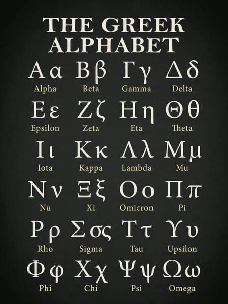 Language Photograph - The Greek Alphabet by Mark Rogan