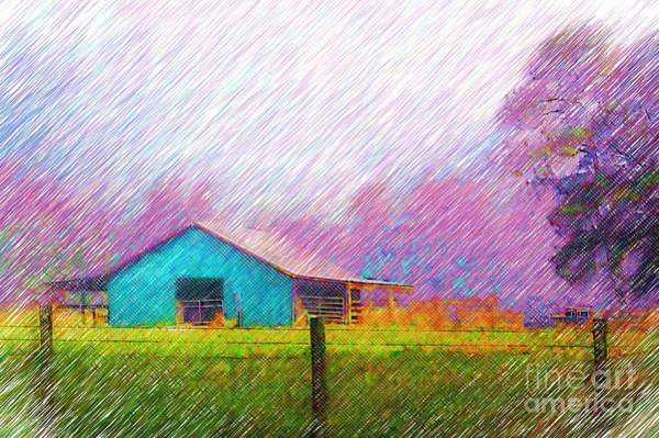 Photograph - The Green Barn by Donna Bentley