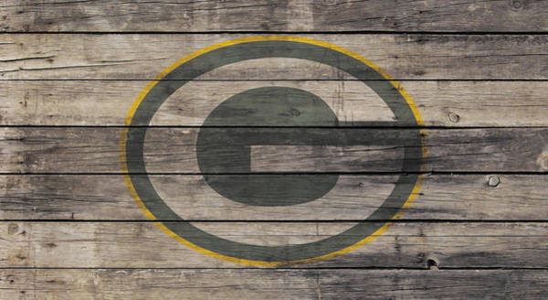 Aaron Rodgers Mixed Media - The Green Bay Packers W1 by Brian Reaves