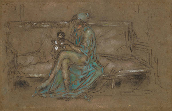 Pastel - The Green Cap by James Abbott McNeill Whistler