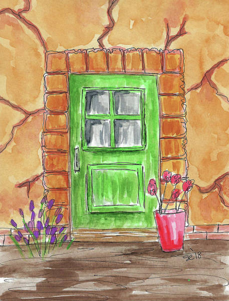 Painting - The Green Door by Susan Campbell