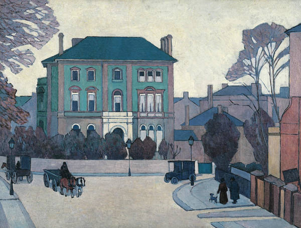 United Kingdom Painting - The Green House, St John's Wood by Robert Bevan
