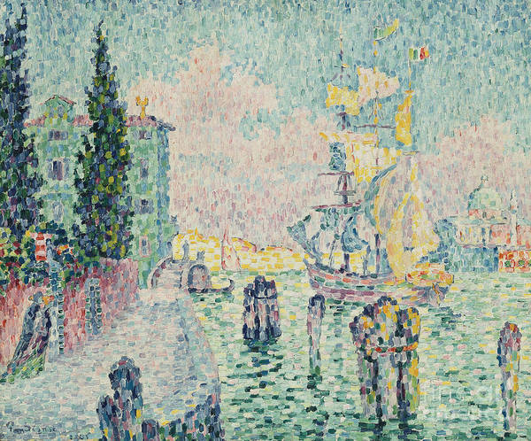 Wall Art - Painting - The Green House, Venice by Paul Signac