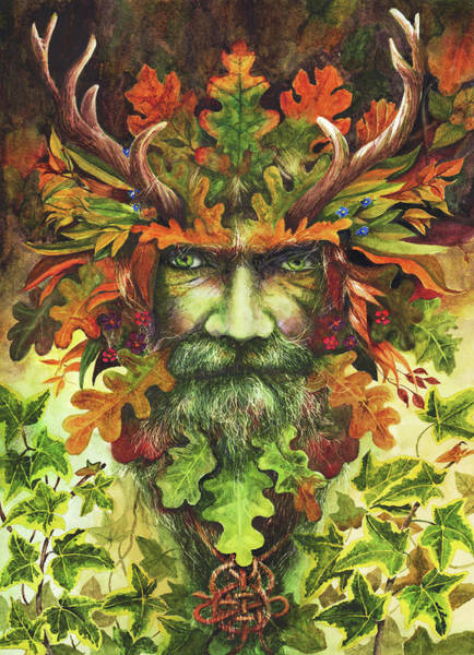 Painting - The Green Man by Peter Williams