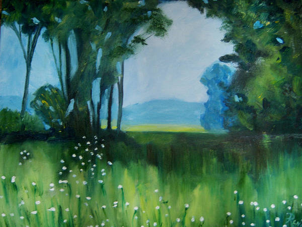 Gandy Wall Art - Painting - The Green Of Spring by Renee Gandy