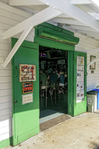 Photograph - Come Right In To The Green Parrot Bar, Key West by Kay Brewer
