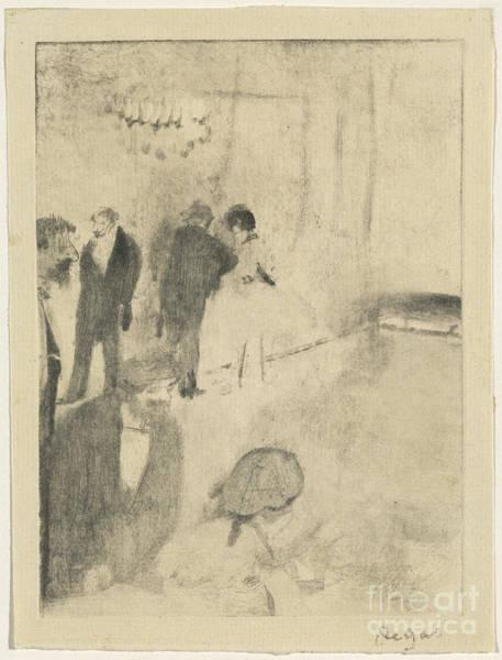 Wall Art - Drawing - The Green Room (le Foyer De L'opera) by Edgar Degas