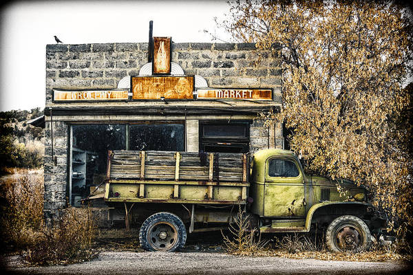 Pick Up Truck Photograph - The Green Truck Grocery Market by Humboldt Street
