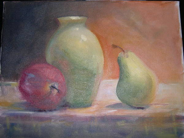 Wall Art - Painting - The Green Vase by Patricia Caldwell