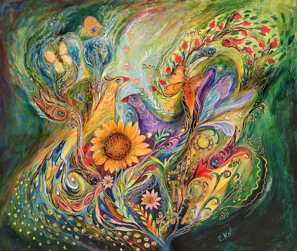 Kaballah Wall Art - Painting - The Green World by Elena Kotliarker