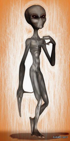 Ken Morris Digital Art - The Grey  by Ken Morris