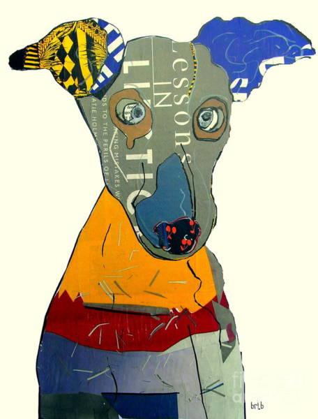Wall Art - Painting - The Greyhound Dog by Bri Buckley
