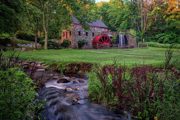 Photograph - The Grist Mill In Sudbury by Rick Berk