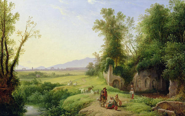Wall Art - Painting - The Grove Of Egeria  by Franz Ludwig Catel